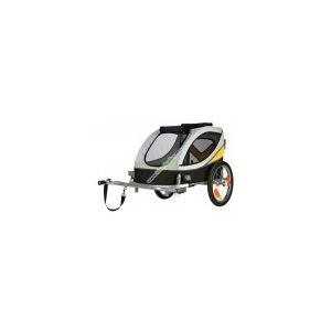 Vozík za kolo L 58x57x85cm do 40 kg šedo/žluto/černý